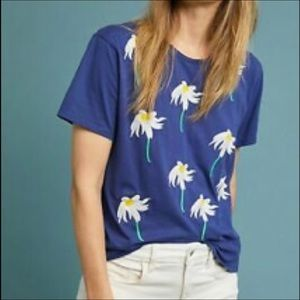 Bannerday X Anthropologie Daisy Embroidered Tee